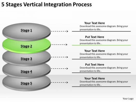 5 Stages Vertical Integration Process Ppt Business Plan PowerPoint Slides
