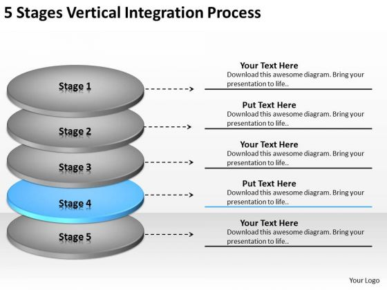 5 Stages Vertical Integration Process Ppt Real Estate Agent Business Plan PowerPoint Templates
