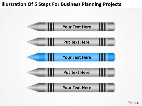 5 Steps For Business Planning Projects Ppt PowerPoint Slides