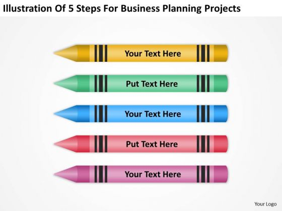 5 Steps For Business Planning Projects Ppt Sample Outline PowerPoint Slides