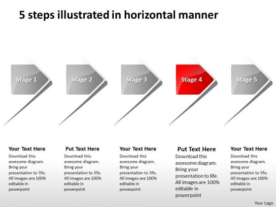 5 Steps Illustrated In Horizontal Manner Proto Typing PowerPoint Templates