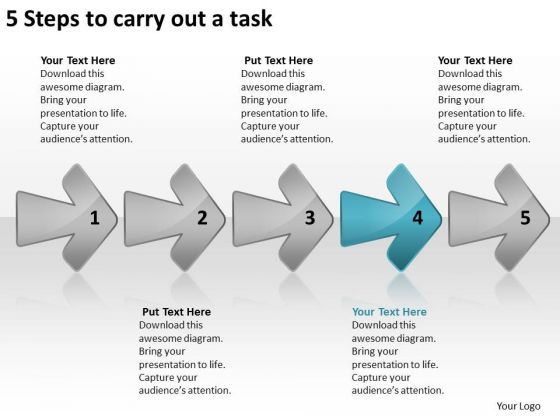 5 Steps To Carry Out Task Chart Circuit Drawing PowerPoint Templates