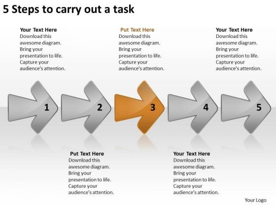 5 Steps To Carry Out Task Circuit Drawing PowerPoint Templates