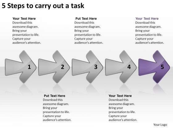 5 Steps To Carry Out Task Ppt Circuit Drawing PowerPoint Templates