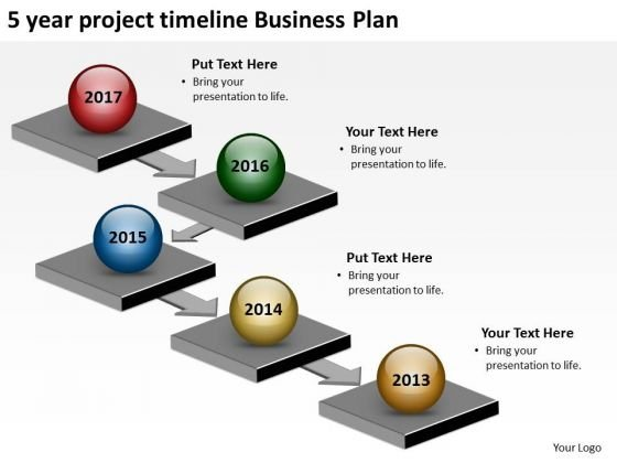 5 Year Project Timeline Business Plan PowerPoint Templates Ppt Slides Graphics
