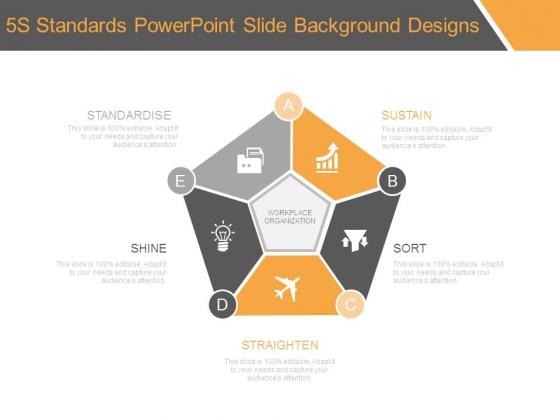 5s Standards Powerpoint Slide Background Designs Powerpoint Templates