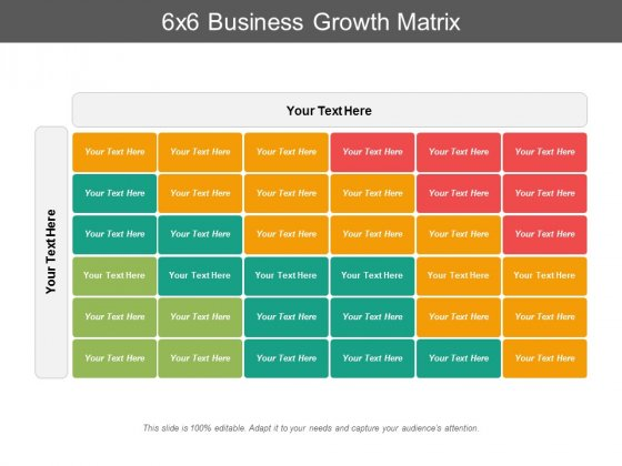 6X6 Business Growth Matrix Ppt PowerPoint Presentation Summary Gallery