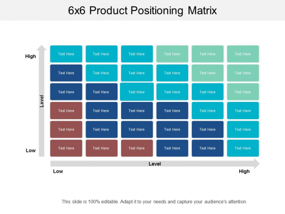 6X6 Product Positioning Matrix Ppt PowerPoint Presentation Inspiration Rules