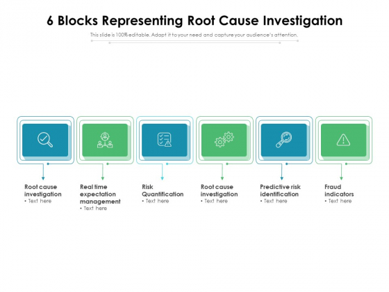 6 Blocks Representing Root Cause Investigation Ppt PowerPoint Presentation Gallery Show PDF