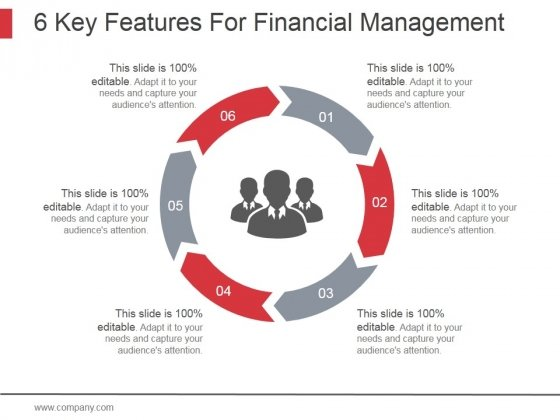 6 Key Features For Financial Management Ppt PowerPoint Presentation Guidelines