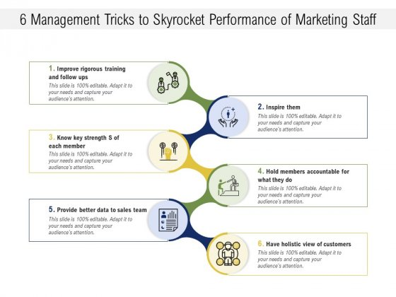 6 Management Tricks To Skyrocket Performance Of Marketing Staff Ppt PowerPoint Presentation Gallery Themes PDF