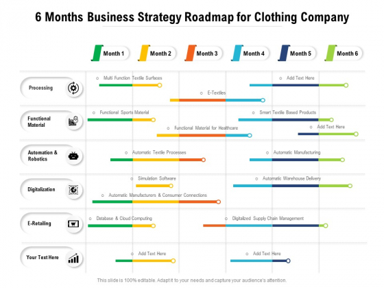 6_Months_Business_Strategy_Roadmap_For_Clothing_Company_Introduction_Slide_1