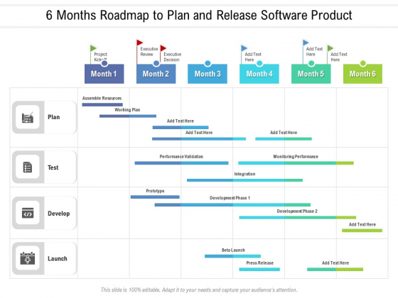6 Months Roadmap To Plan And Release Software Product Infographics