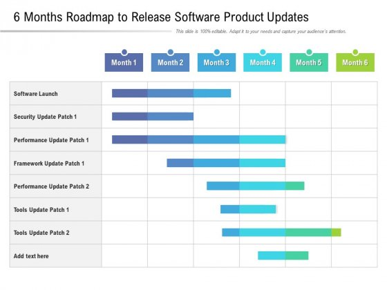 6 Months Roadmap To Release Software Product Updates Pictures