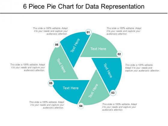 6 Piece Pie Chart For Data Representation Ppt PowerPoint Presentation Professional Brochure