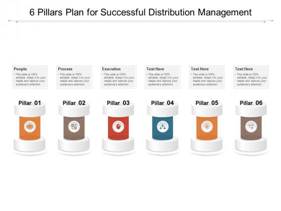 6 Pillars Plan For Successful Distribution Management Ppt PowerPoint Presentation Outline Graphics PDF