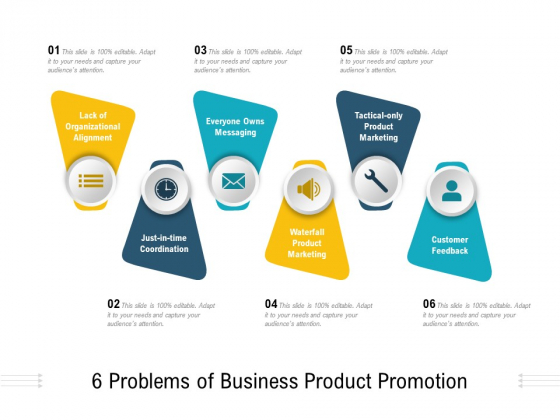 6 Problems Of Business Product Promotion Ppt PowerPoint Presentation File Slide Download PDF