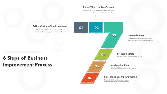 6 Steps Of Business Improvement Process Ppt PowerPoint Presentation File Samples PDF