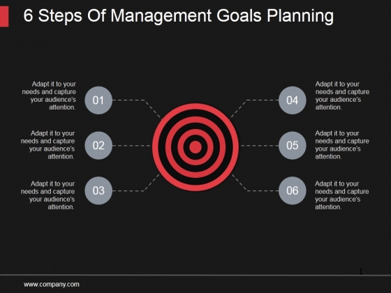 6 Steps Of Management Goals Planning Ppt PowerPoint Presentation Microsoft