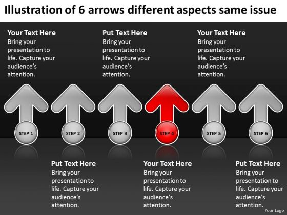 6 Arrows Different Aspects Same Issue Restaurant Business Plan PowerPoint Slides