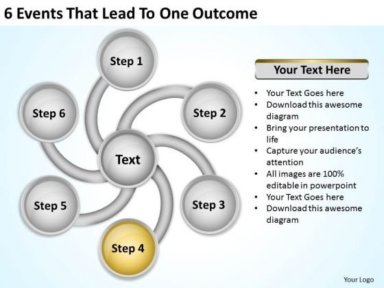 6 Events That Lead To One Outcome Business Plan Templet PowerPoint Slides