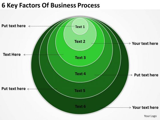 6 Key Factors Of Business Process Planning PowerPoint Slides