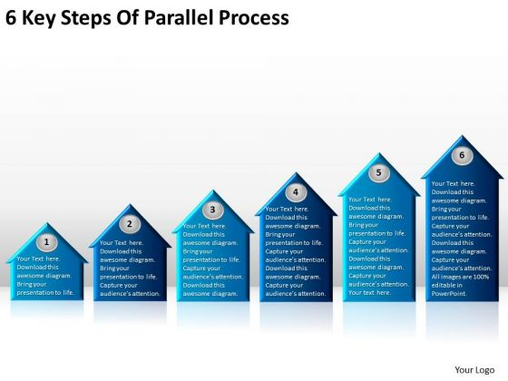 6 Key Steps Of Parallel Process It Business Plan Template PowerPoint Templates