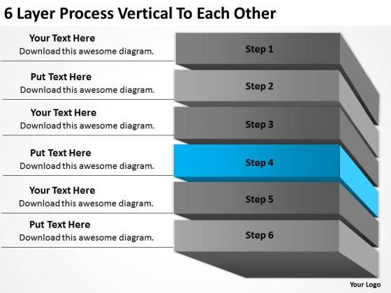 6 Layer Process Vertical To Each Other Ppt Starting Small Business PowerPoint Templates