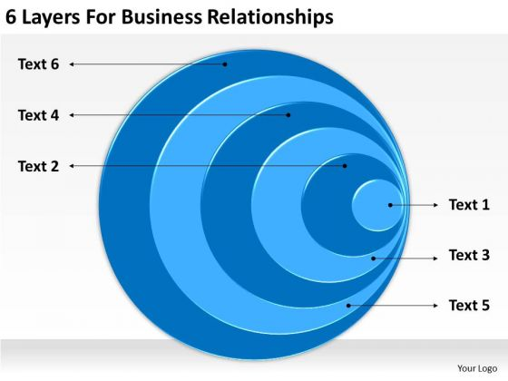 6 Layers For Business Relationships Plan PowerPoint Templates