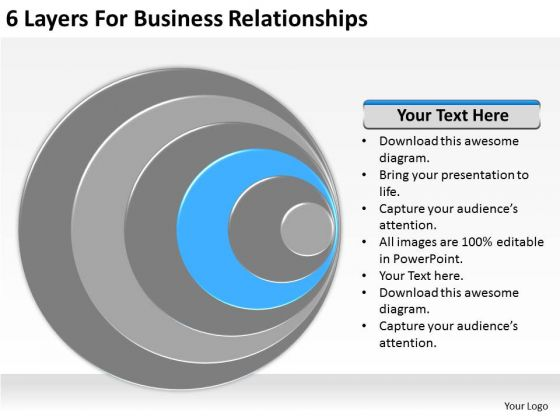6 Layers For Business Relationships Ppt Plan Examples PowerPoint Templates
