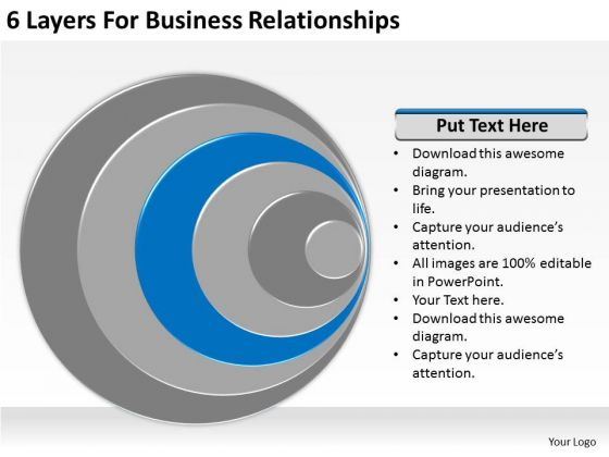 6 Layers For Business Relationships Ppt Plan Strategy PowerPoint Templates
