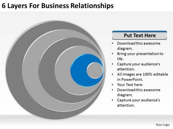 6 Layers For Business Relationships Short Plan Template PowerPoint Slides