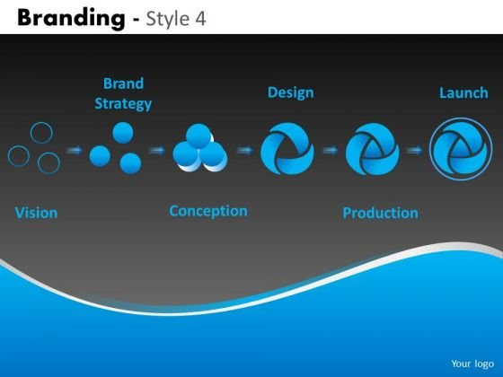 6 Stage Branding Process PowerPoint Templates Ppt Slides