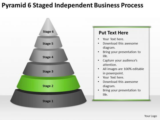 6 Staged Independent Business Process Ppt How To Develop Plan PowerPoint Templates
