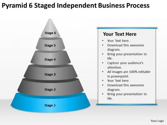 6 Staged Independent Business Process Ppt Start Up Plan Template PowerPoint Slides