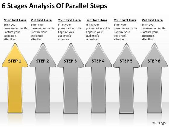 6 Stages Analysis Of Parallel Steps Business Plan PowerPoint Slides
