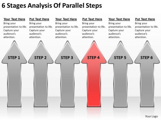6 Stages Analysis Of Parallel Steps Business Plan PowerPoint Templates