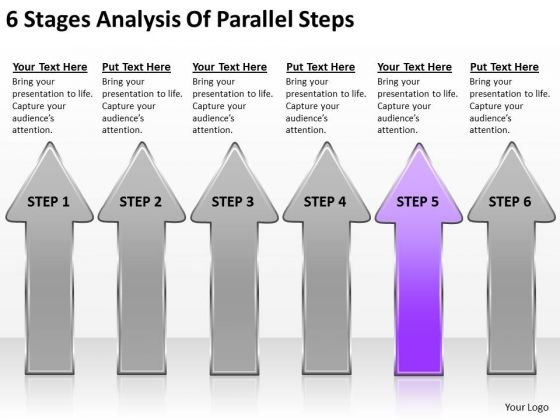 6 Stages Analysis Of Parallel Steps Designing Business Plan PowerPoint Templates