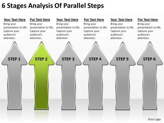 6 Stages Analysis Of Parallel Steps Examples Business Plans PowerPoint Slides