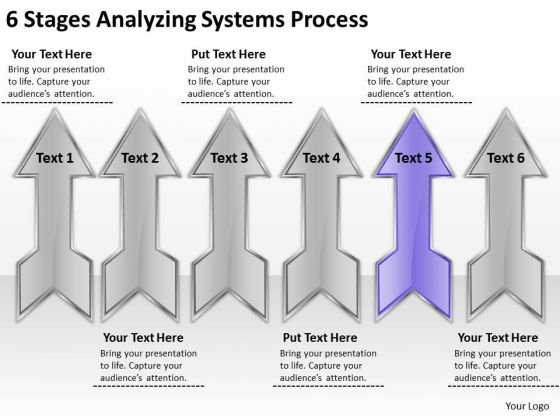6 Stages Analyzing Systems Process Catering Business Plan Template PowerPoint Slides