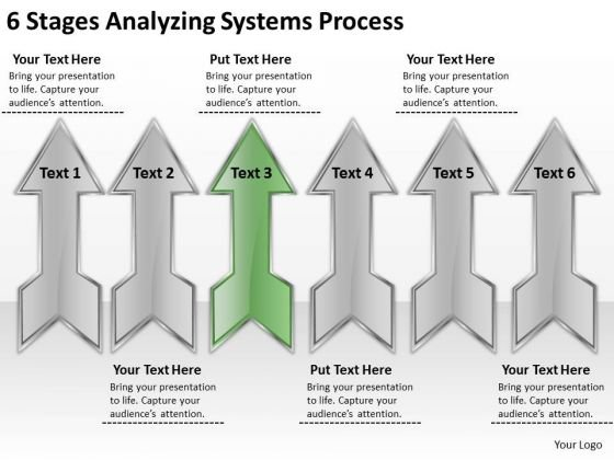 6 Stages Analyzing Systems Process How To Write Business Plan PowerPoint Slides