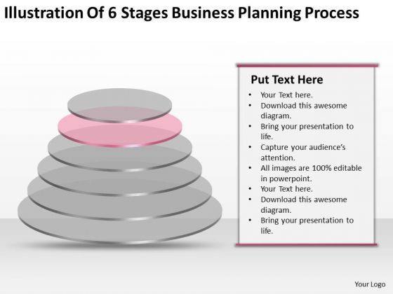 6 Stages Business Planning Process Ppt Plans For Restaurants PowerPoint Slides