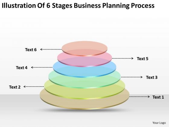 6 Stages Business Planning Process Writing Small PowerPoint Slides