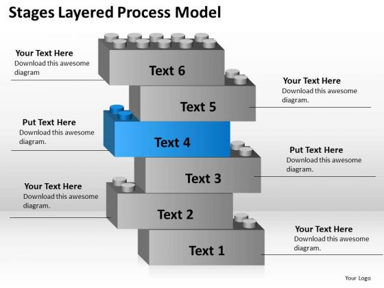 6 Stages Layered Process Model Business Planning Guide PowerPoint Slides