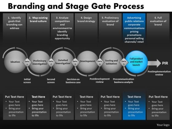 6 Stages Linear Process Diagram With Gates PowerPoint Slides Ppt Templates