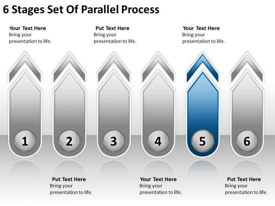 6 Stages Set Of Parallel Process Bar Business Plan Template PowerPoint Templates