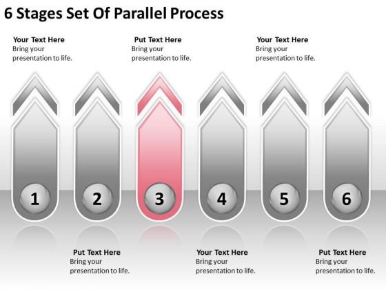 6 Stages Set Of Parallel Process Business Plan Steps PowerPoint Slides