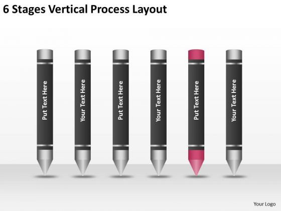 6 Stages Vertical Process Layout Ppt Business Plan For Non Profit PowerPoint Slides