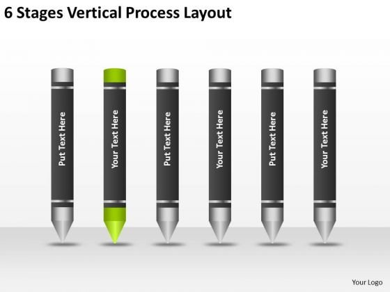 6 Stages Vertical Process Layout Ppt Buy Business Plan PowerPoint Slides