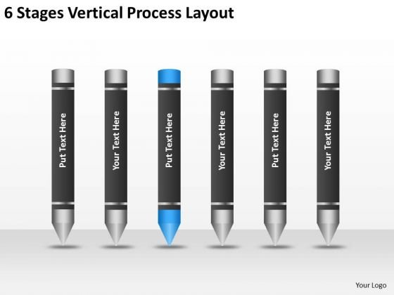 6 Stages Vertical Process Layout Ppt Format Business Plan PowerPoint Templates